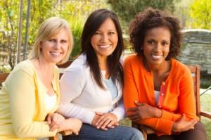 Women on a Bench - Susan Norris Speaks to Women