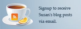 RSS and Coffee Cup - Receive Susan Norris' Updates and Blog Posts via Email