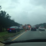 Just one of six accidents. Don't worry, I was at a complete stop when I took this.