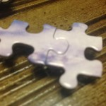 Puzzle pieces connected